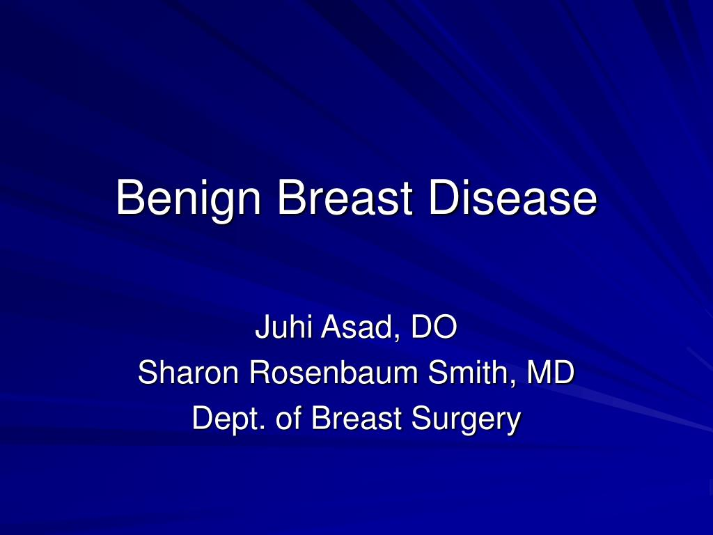 benign breast disease l.