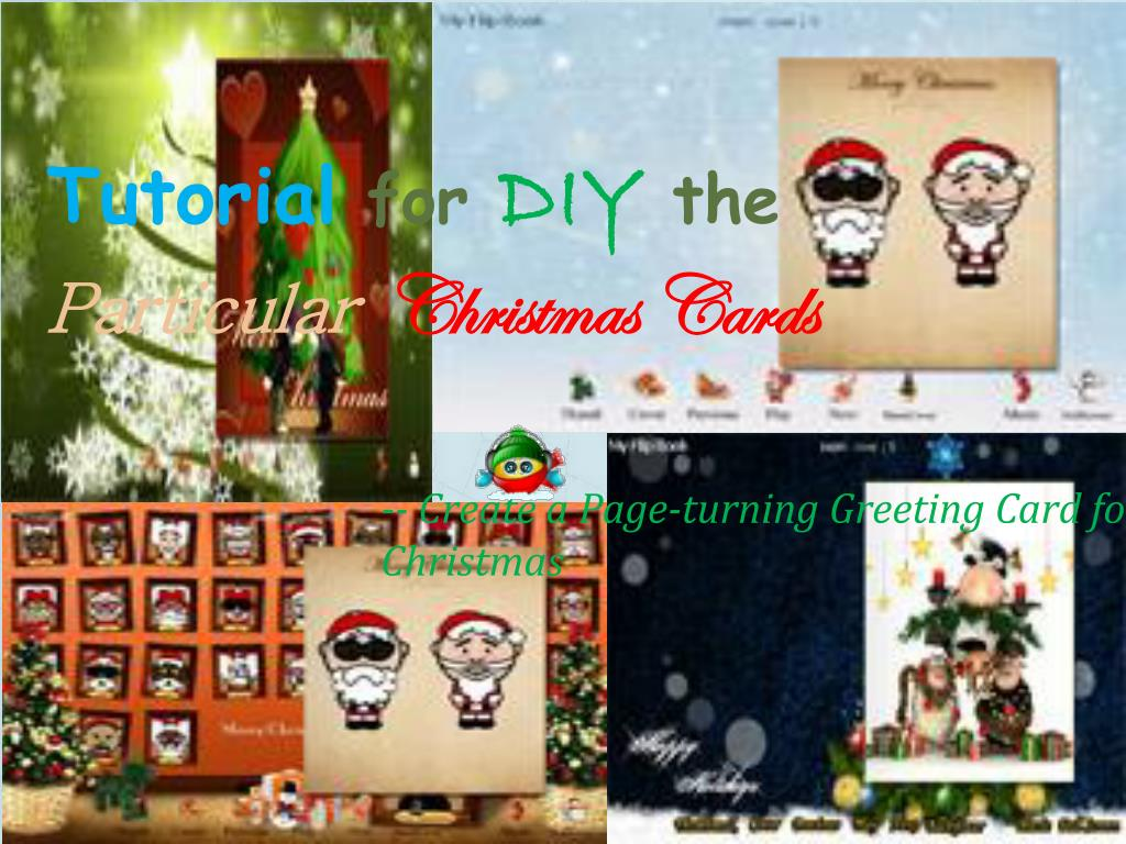 tutorial for diy the particular christmas cards l.