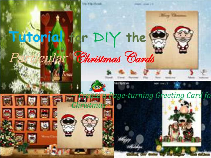 tutorial for diy the particular christmas cards n.