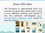 xmas gifts idea