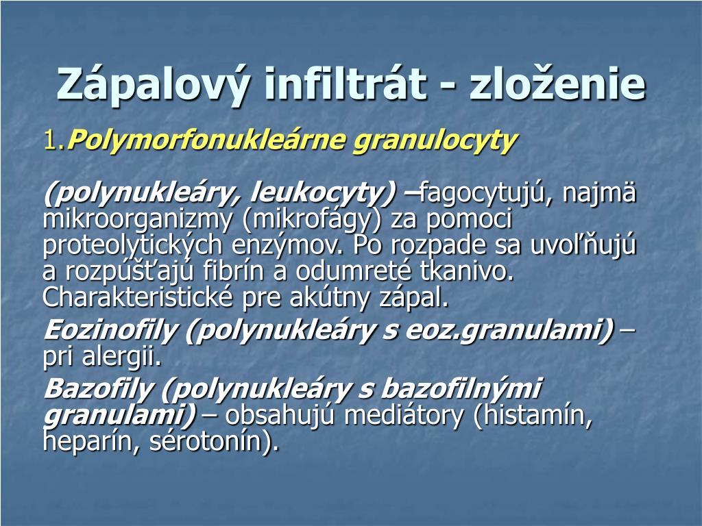 Zápalový infiltrát - zloženie