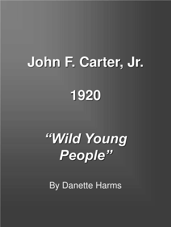 john f carter jr 1920 l.