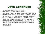 java continued