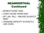 neanderthal continued