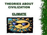 theories about civilization climate