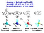 a series of derivatives of the ex 4 geometry all with n 4 but with increasing numbers of lone pairs