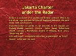 jakarta charter under the radar