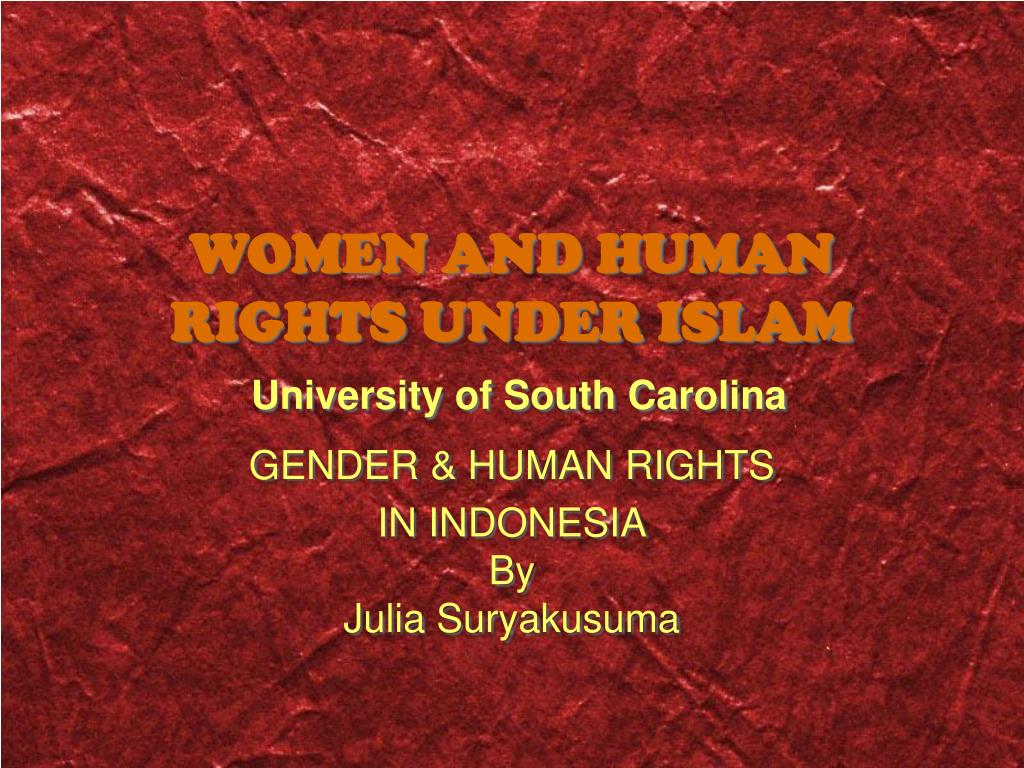 women and human rights under islam university of south carolina l.