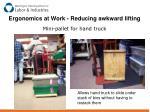 ergonomics at work reducing awkward lifting