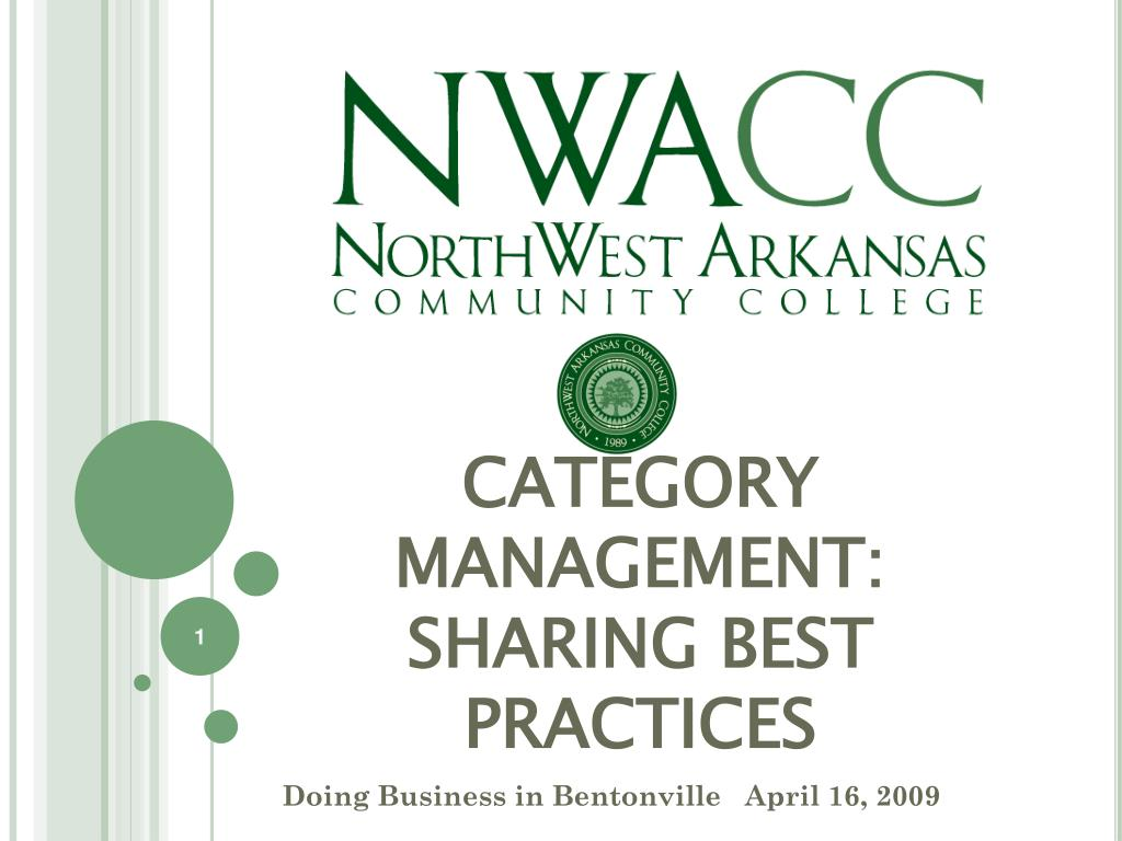 category management sharing best practices l.