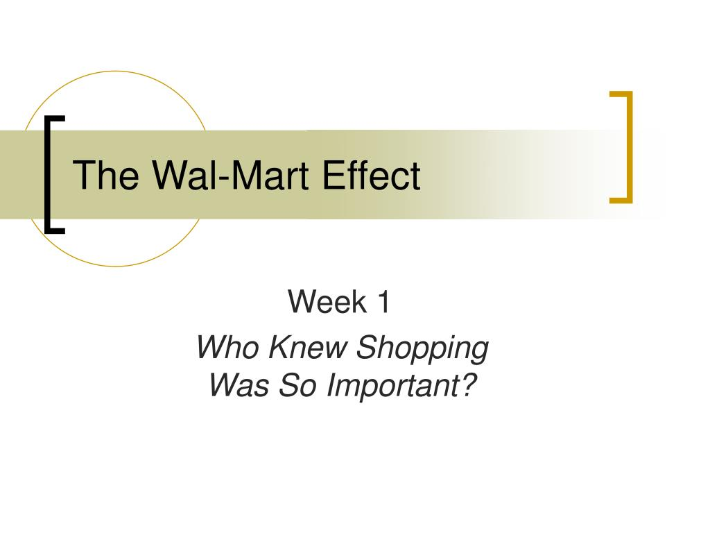the wal mart effect l.