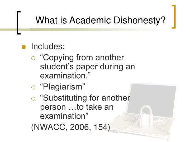 plagiarism academic dishonesty and students Plagiarism is a type of cheating that involves the use of another person's ideas, words, design, art, music, etc, as one's own in whole or in part without acknowledging the author or obtaining his or her permission.