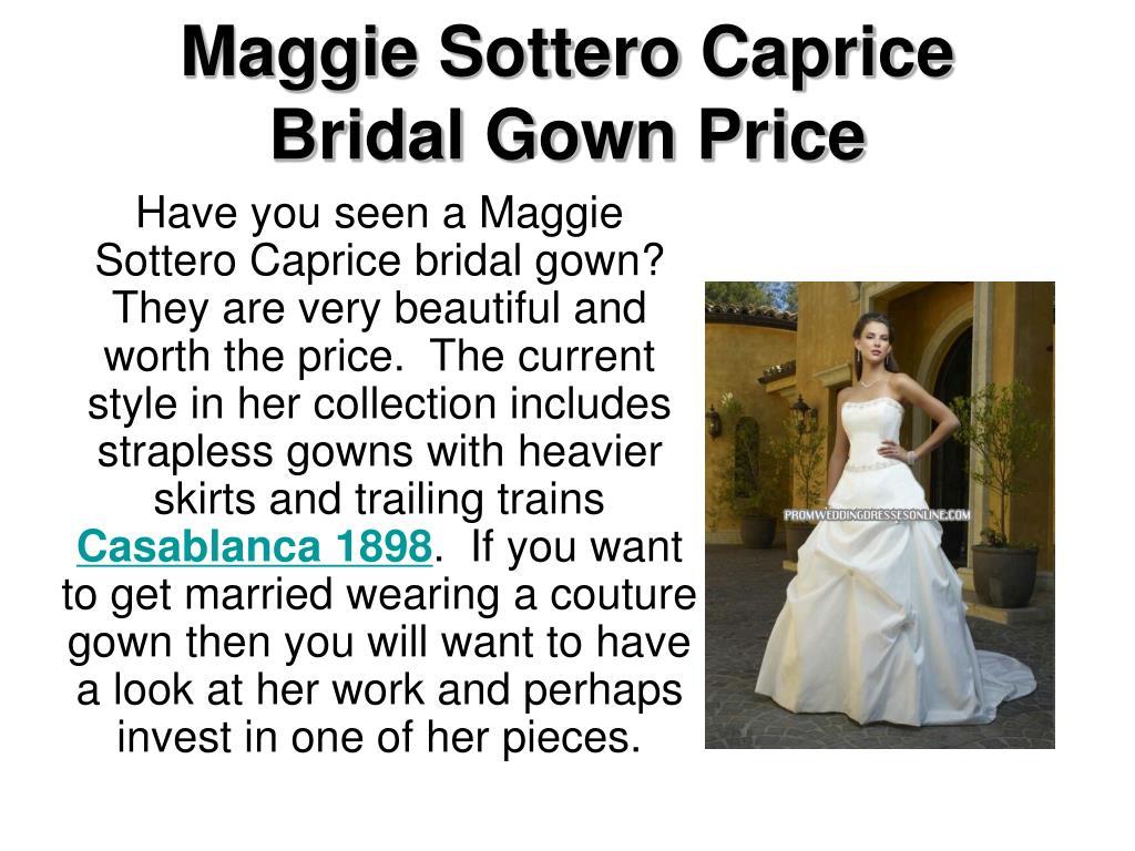 maggie sottero caprice bridal gown price l.