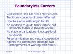 boundaryless careers
