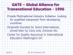 gate global alliance for transnational education 1996