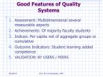 good features of quality systems