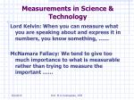 measurements in science technology