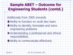 sample abet outcome for engineering students contd40
