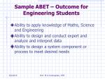 sample abet outcome for engineering students
