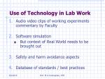 use of technology in lab work