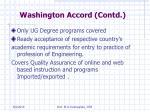 washington accord contd