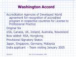 washington accord