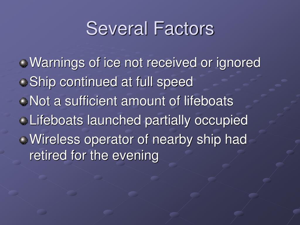 Several Factors