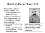 grant as general in chief