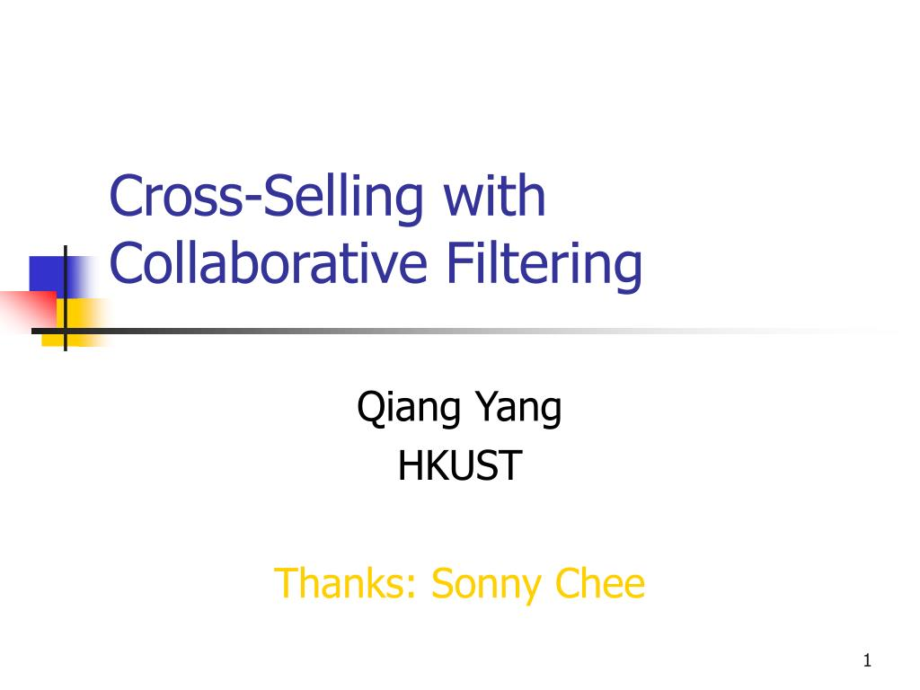 cross selling with collaborative filtering l.