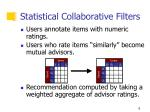 statistical collaborative filters