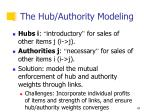 the hub authority modeling