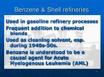 benzene shell refineries