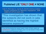 published lie only one none