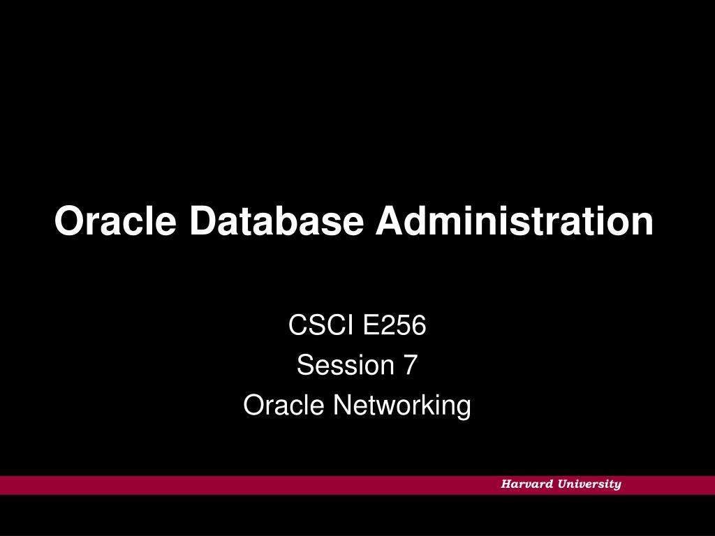 oracle database administration l.