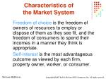 characteristics of the market system8