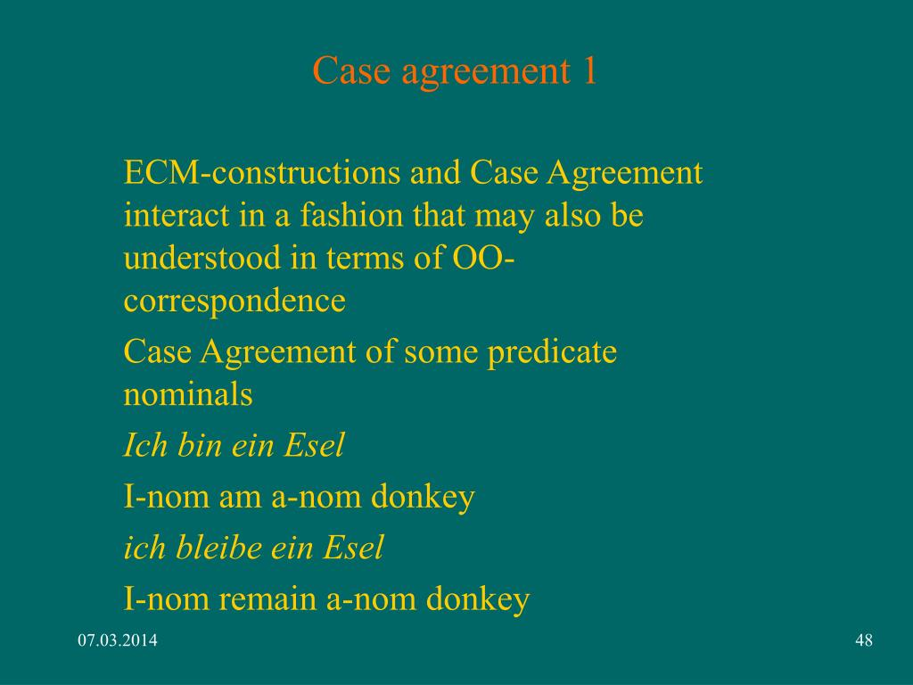 Case agreement 1