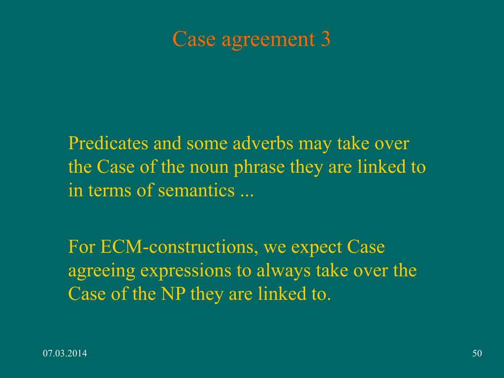 Case agreement 3