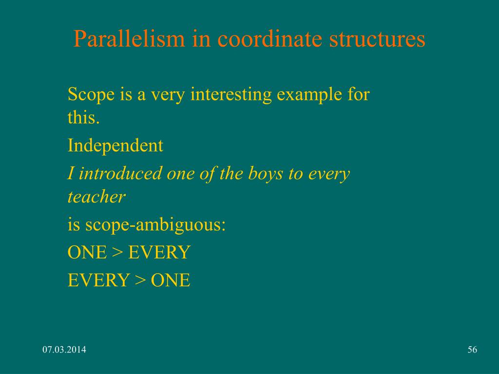 Parallelism in coordinate structures