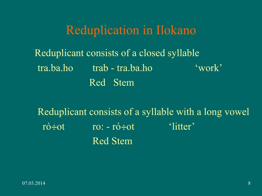 Reduplication in Ilokano
