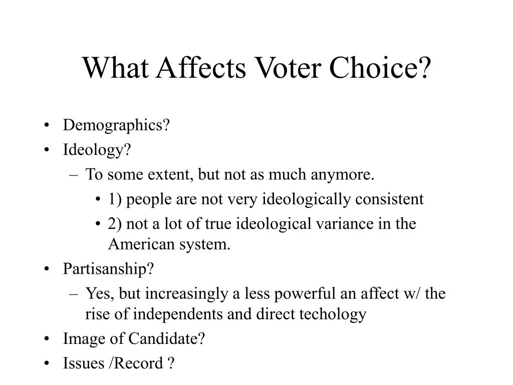 what affects voter choice l.