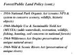 forest public land policy cont