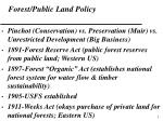 forest public land policy