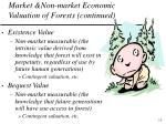 market non market economic valuation of forests continued10
