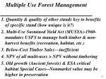 multiple use forest management