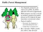 public forest management
