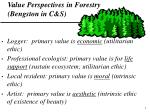 value perspectives in forestry bengston in c s