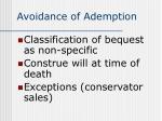 avoidance of ademption