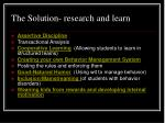 the solution research and learn