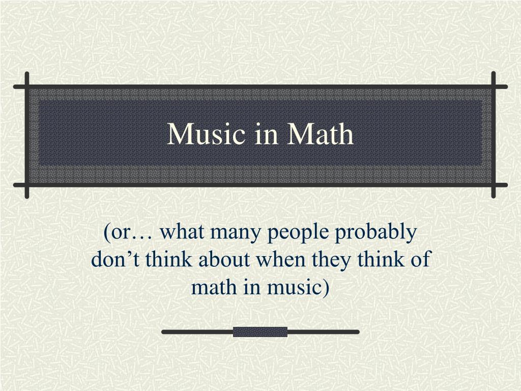 music in math l.