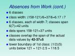 absences from work cont
